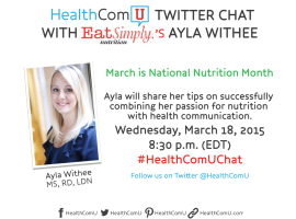 HealthComU Twitter Chat