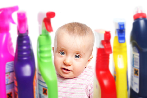 Baby-Poision-Prevention-Household-Chemicals