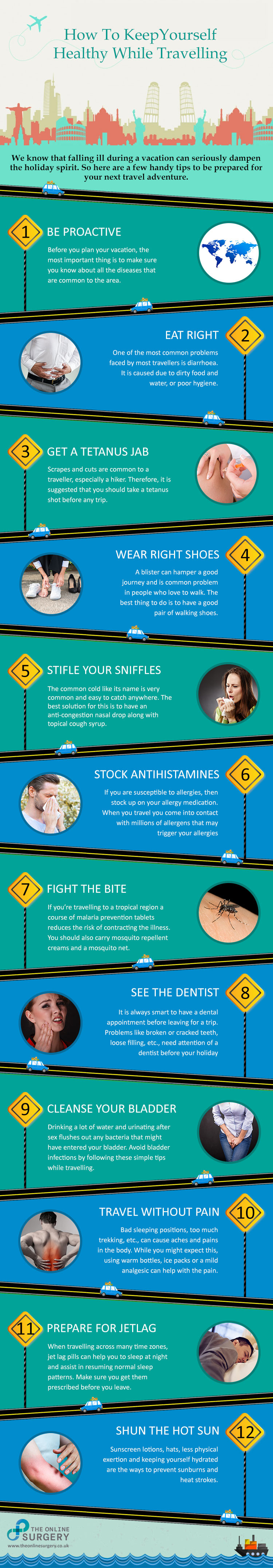 Stay-Healthy-While-Traveling-Infographic-First-Aid-Kit-Travel-Wellness