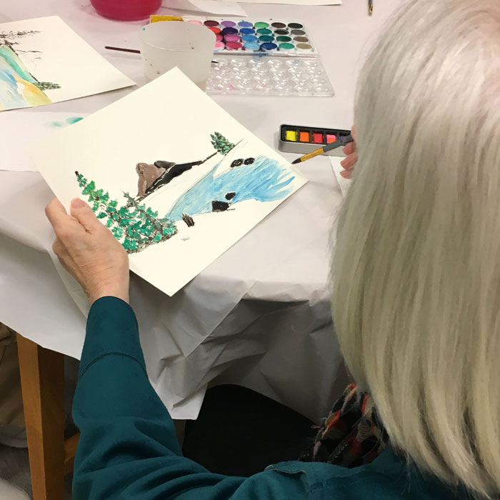Art-Classes-Fine-Art-Maryland-Community-Elderly-Creative-Creativity-Painting-Watercolor